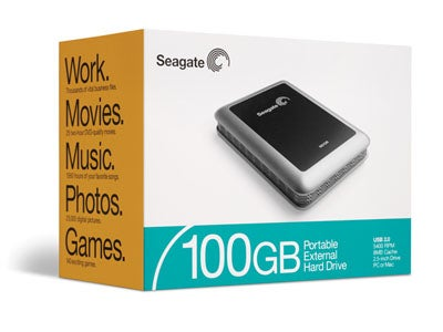 seagate 100gb usb 2 0 portable hard drive review trusted. Black Bedroom Furniture Sets. Home Design Ideas