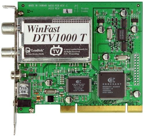 LEADTEK WINFAST DTV1000S DRIVERS WINDOWS XP