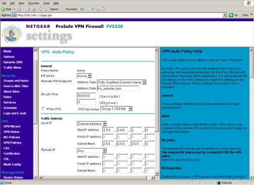 Netgear ProSafe VPN Firewall 50 – Screenshots Review