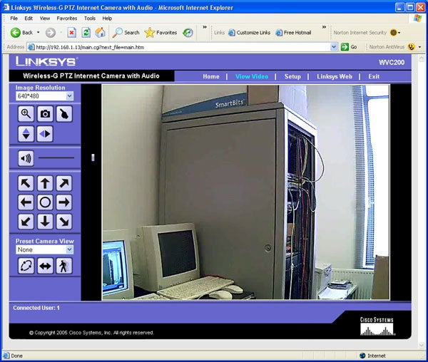 Linksys WVC200 Wireless IP Camera – Screen Shots Review | Trusted