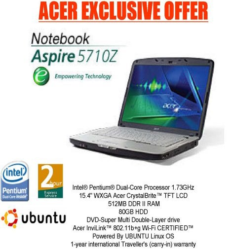 Acer To Shun Vista For Ubuntu Trusted Reviews