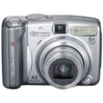 "PowerShot A720 IS 8 Megapixel Compact Camera - 5.80 mm-34.80 mm (2.5"" LCD - 6x Optical Zoom - 3624 x 2448 Image - 640 x 480 Video - PictBridge)"