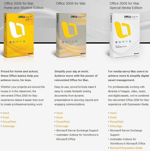 Microsoft Office For Mac 2008 – Microsoft Office 2008