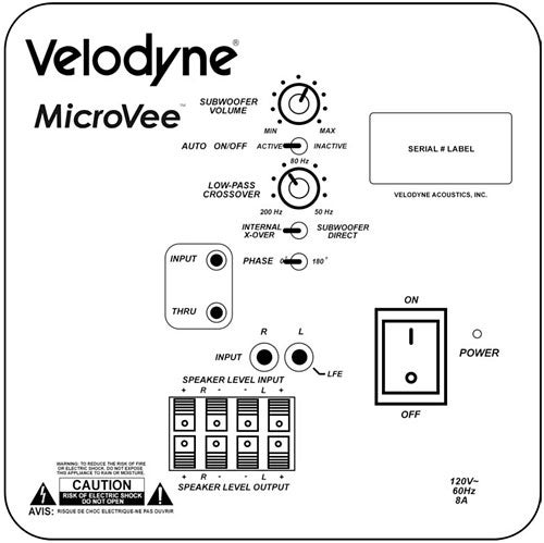 velodyne microvee subwoofer review