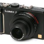 Panasonic Lumix DMC-LX3 front angle