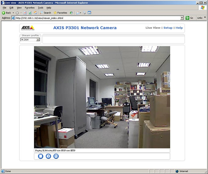 Axis P3301 IP Camera – Axis P3301 - Screenshots Review | Trusted Reviews