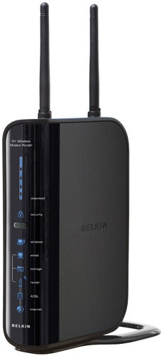 Belkin n wireless modem router f5d8635uk4a review trusted reviews the usb port adds some useful storage related features as you can connect a memory stick or an external storage device and share its contents over the greentooth Choice Image