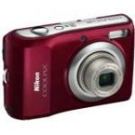 "Coolpix L20 10 Megapixel Compact Camera - 6.70 mm-24 mm - Deep Red (3"" LCD - 3.6x Optical Zoom - 3648 x 2736 Image - 640 x 480 Video)"