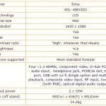Sony Bravia KDL-40EX503 specs