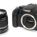 Canon EOS 550D front angle