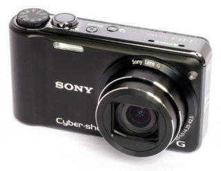 Sony Cyber-shot DSC-HX5 front angle