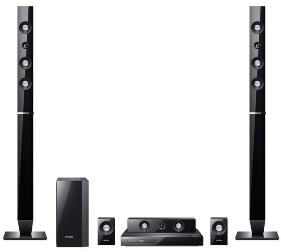 Whereas The HT C5500 Uses Four Bookshelf Speakers And C5550 Provides Tallboys In Each Case You Get Same Passive Subwoofer