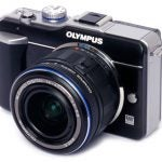 Olympus Pen E-PL1 front angle