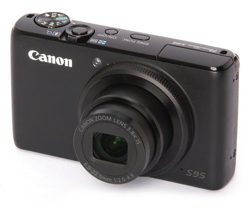 Canon PowerShot S95 front angle