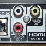 Panasonic DMP-BDT210 rear ports