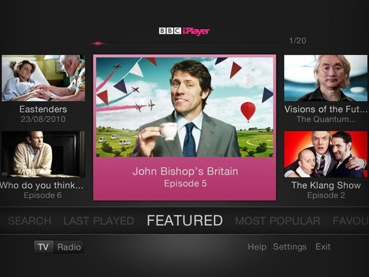 New BBC iPlayer