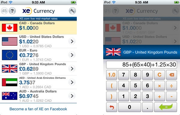 Xe Currency Iphone S