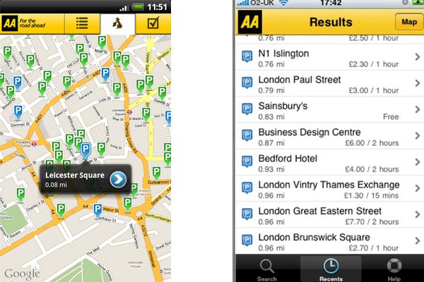 AA Parking Android App Review | Trusted Reviews