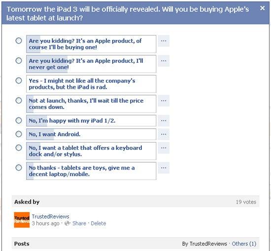 iPad 3 poll