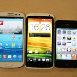 Samsung Galaxy S3 iPhone 4s HTC One X