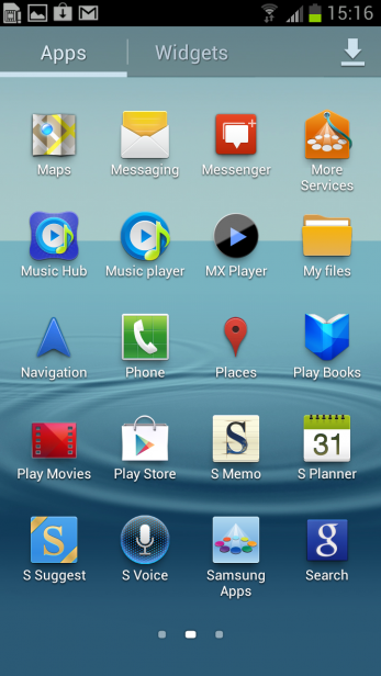 Samsung Galaxy S3 - Screenshot