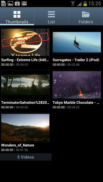 Samsung Galaxy S3 - Video Player
