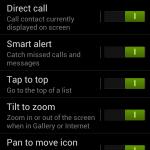 Samsung Galaxy S3 - Gestures