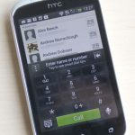 HTC Desire C Contacts