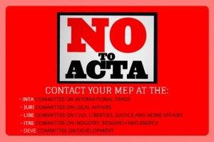 ACTA rejected