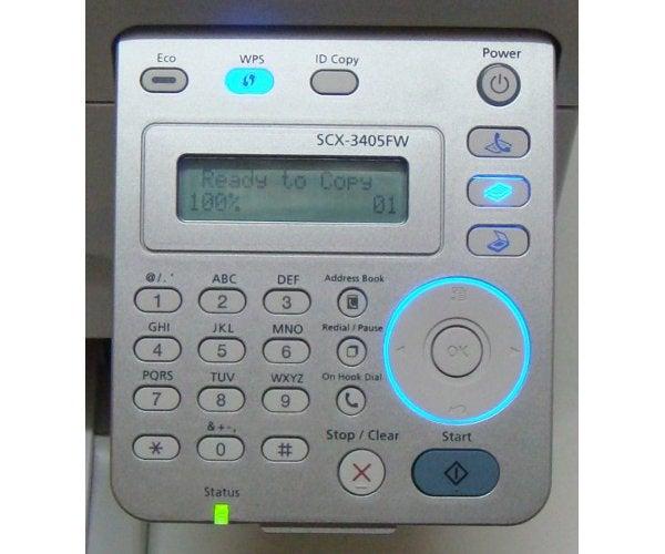 Samsung SCX-3405FW - Controls
