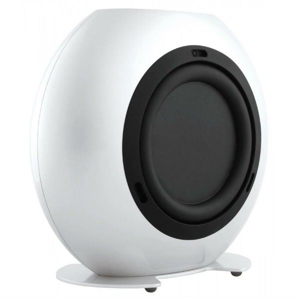 kef egg subwoofer. completing the line-up is compact kef htp2se subwoofer, which slings subwoofer rulebook out window, opting for an unusual round enclosure. kef egg