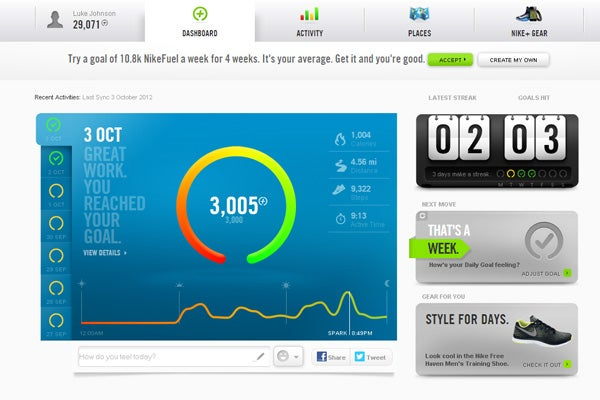 Nike FuelBand Software