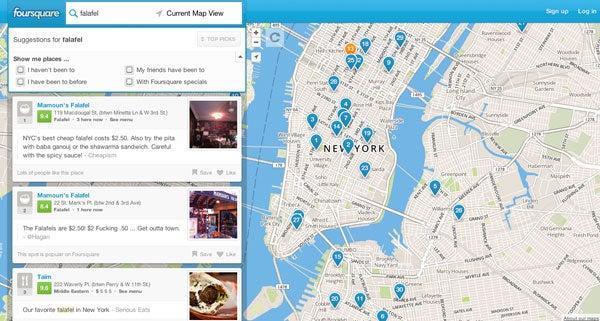 Foursquare local search