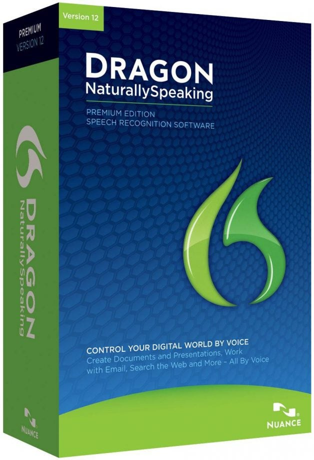 Dragon Naturally Speaking speech-to-text software