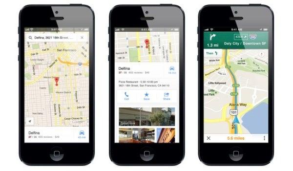 iOS maps google