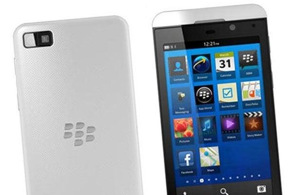 BlackBerry Z10 in white