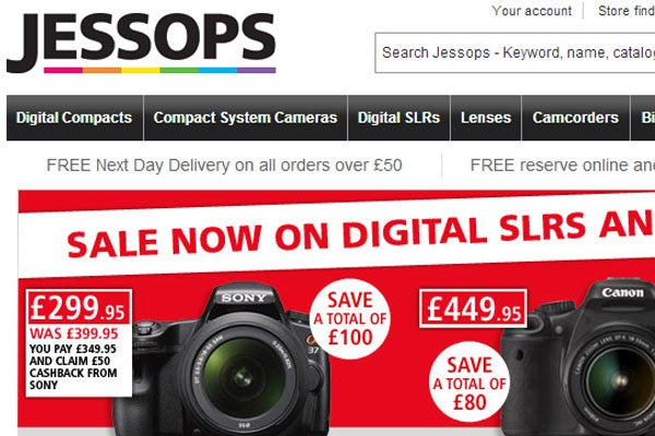 Jessops camera and photography retailer in administration