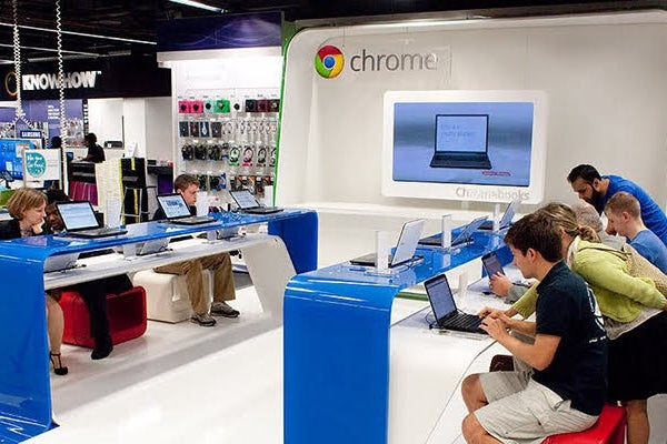 Google Chrome pop-up store in PC World