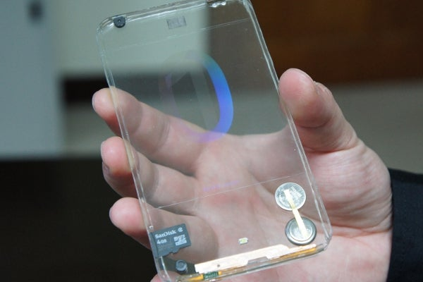 Polytron transparent phone prototype