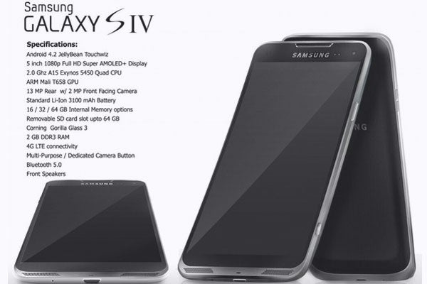 samsung galaxy s4 specs and design teased in rendered image