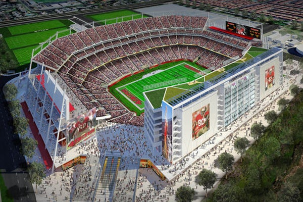 The 49ers new home in Santa Clara