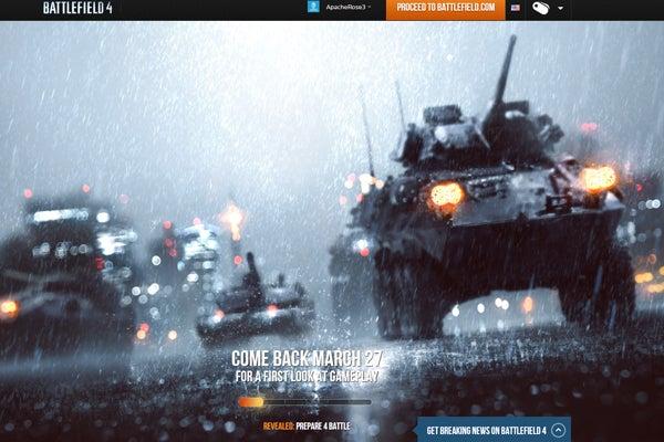 Battlefield 4 teaser site