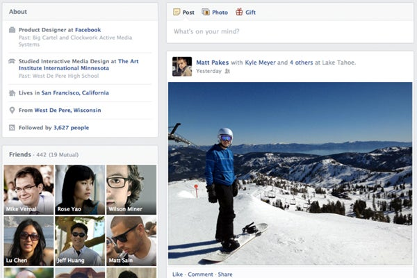 Facebook's new Timeline layout is much clearer