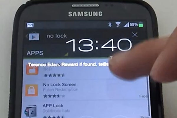 Note 2 lockscreen can be hacked