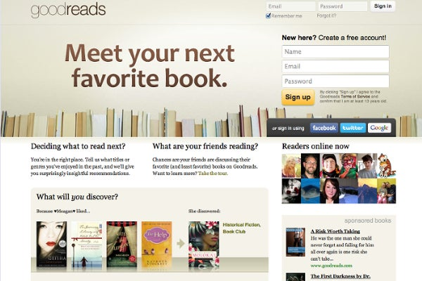 Goodreads site