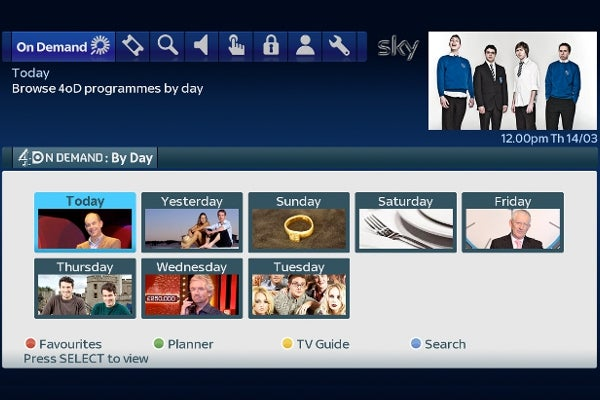 4oD on Sky on Demand