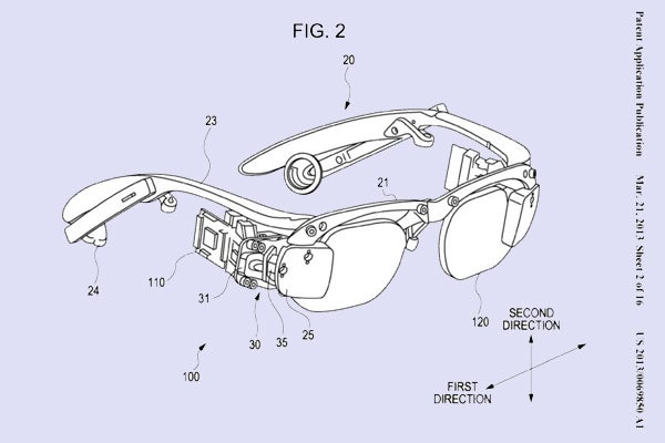 Sony augmented reality glasses patent