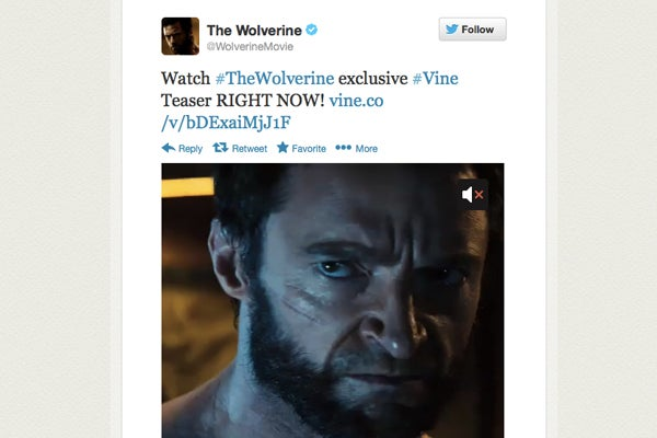 The Wolverine hits Vine