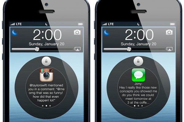 iOS 7 concepts have been doing the rounds