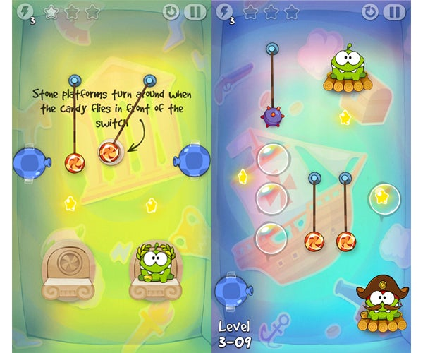 Cut The Rope Time Travel Gameplay